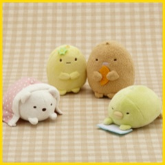 (INSTOCK) Click To See San-x Fansclub Sumikko Gurashi Kotatsu Tsum Tsum Beanies Plush Set