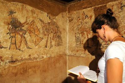 На кухне в деревенском доме найдены фрески майя
