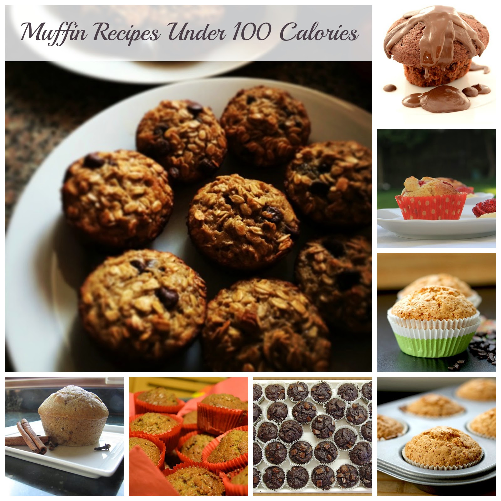 30 Muffin Recipes Under 100 Calories | Becky Cooks Lightly #Healthy
