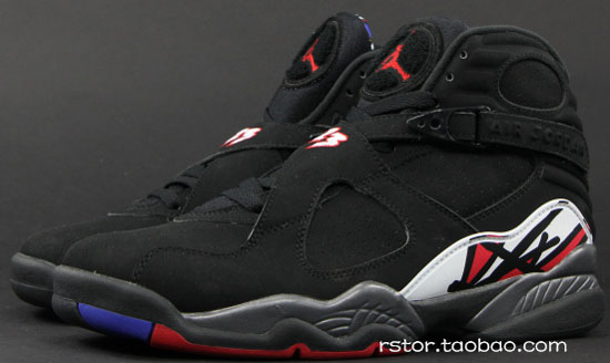 air jordan 8 retro black varsity red white bright concord
