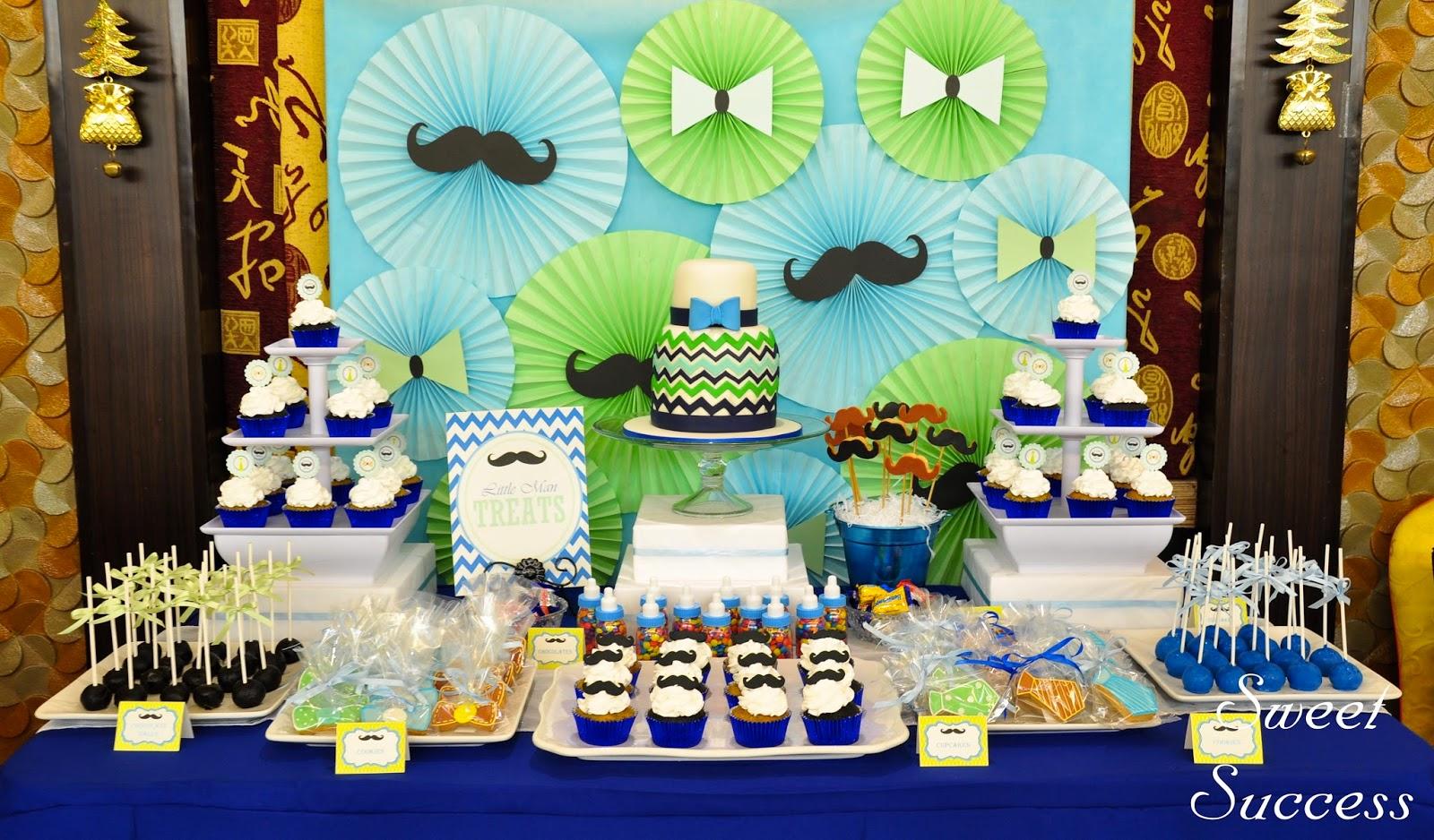 sweet success 39 sweet life little man theme dessert bar