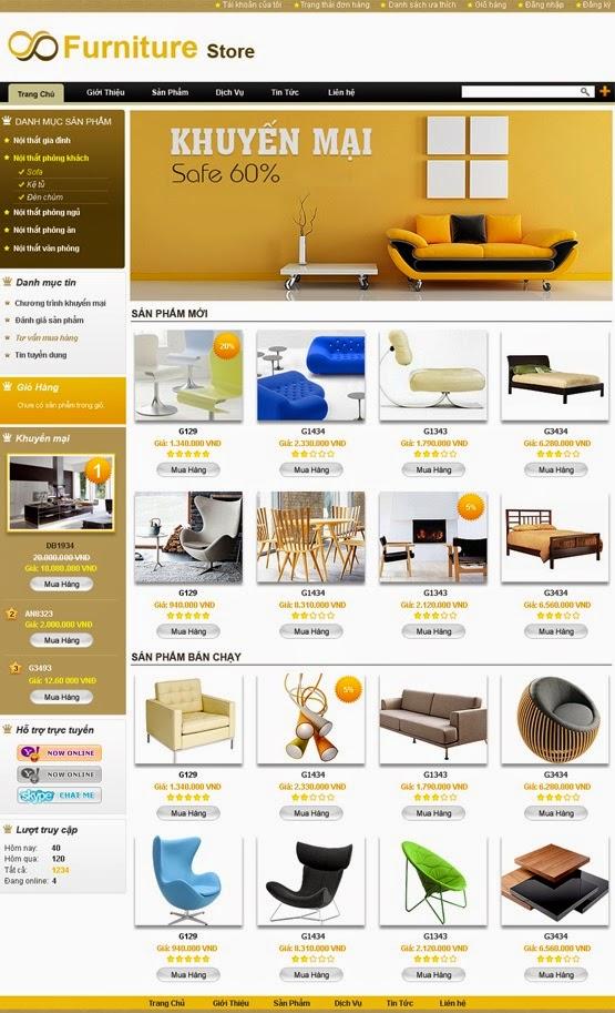 thiết kế website bán hàng bàn ghế chuyên nghiệp
