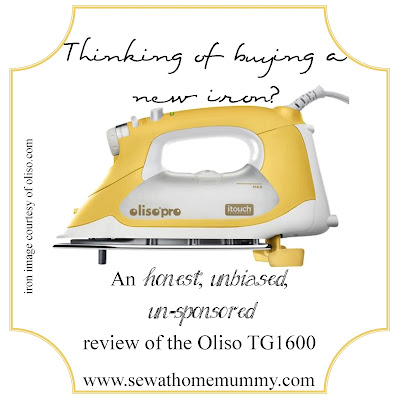 Sew at Home Mummy.com: a candid review of the Oliso Pro TG1600 Iron