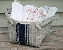 Great Grain Sack with French Linens Packed Inside