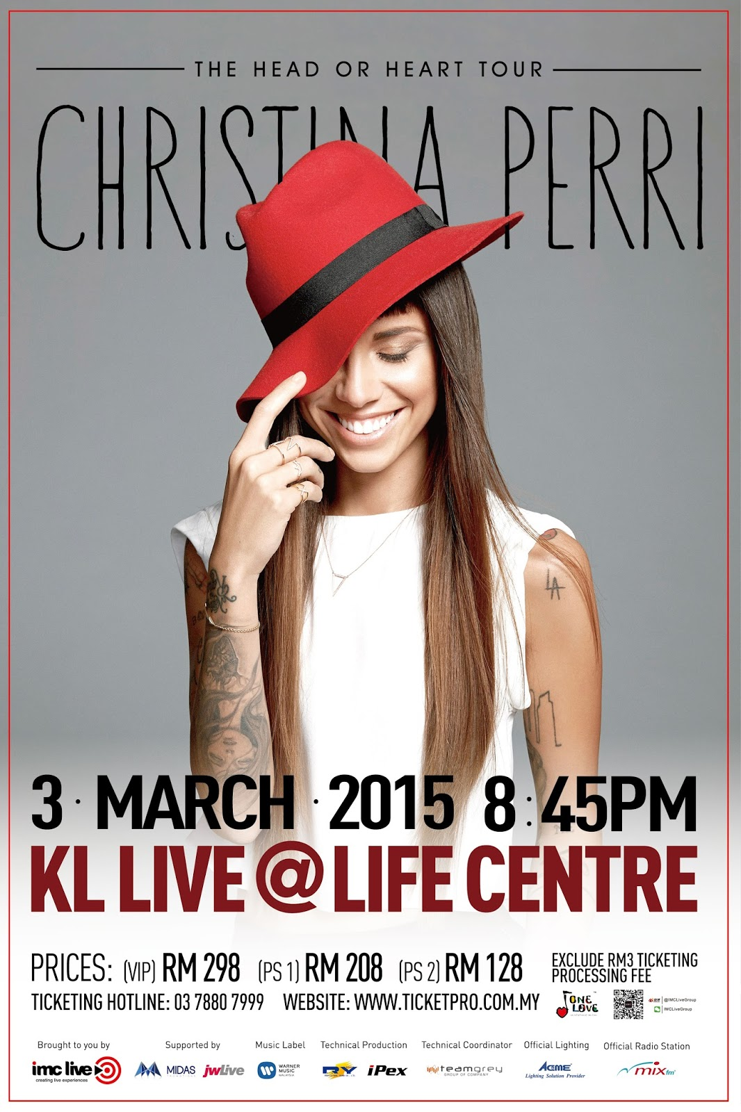 Christina Perri The Head or Heart Tour Live in Malaysia [3 March 2015] KL Live @ Life Centre