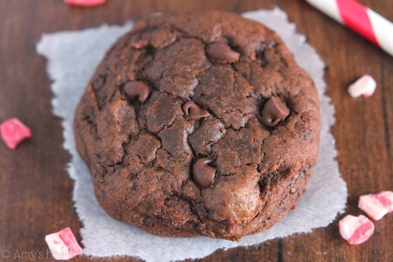 Peppermint Mocha Cookies, Amy's Healthy Baking, 109 calories