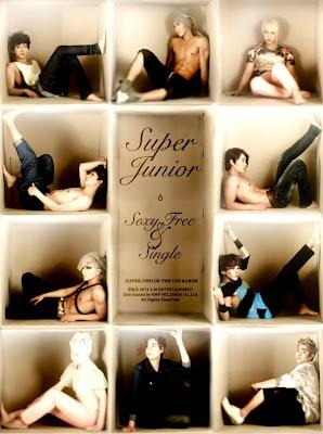Super Junior 6th Album - Sexy Free & Single Version B cover