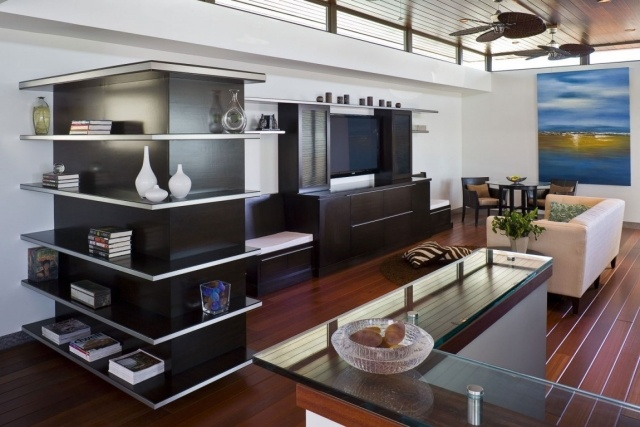 home theater decor ideas integrated in living room - Home Cinema Decor