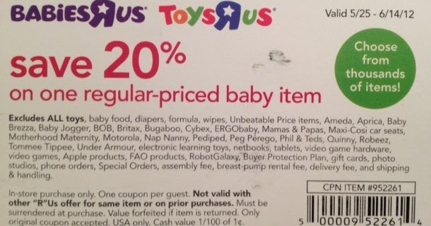 Discount coupons for toys r us in store