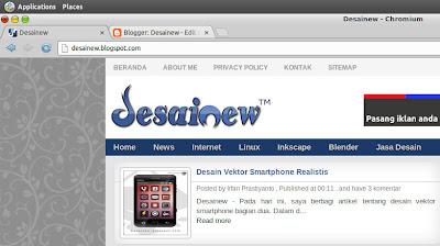 Tampilan icon blog atau blogspot di komputer