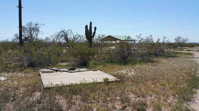 Urban Exploration of Beeline Dragway ruins near Phoenix, Arizona