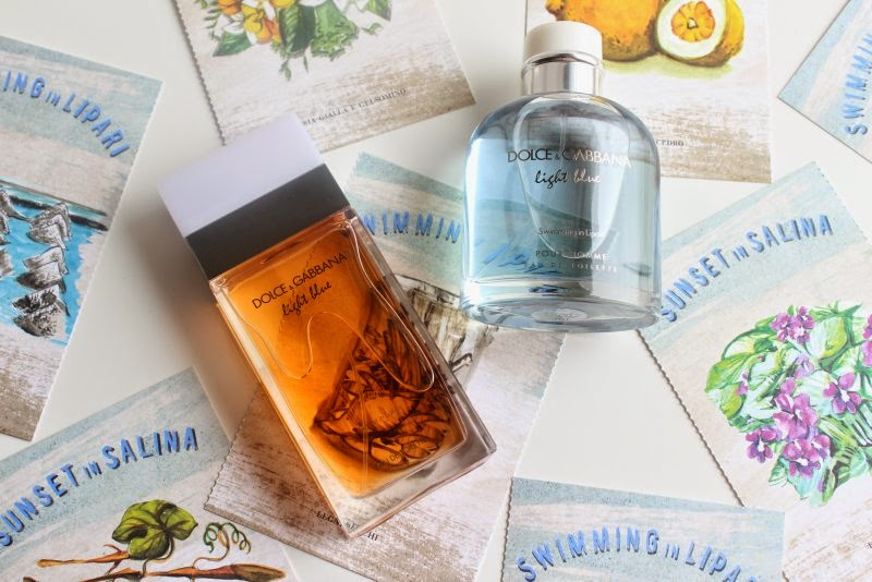 D&G Sunset in Salina and Swimming in Lipari Fragrances