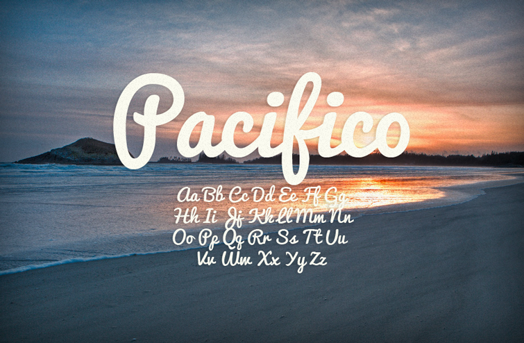 35 Font Script untuk Desain grafis - Pacifico Script Font