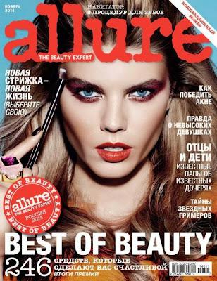 Maryna Linchuk looks glamours and seductive at Allure Russia magazine November 2014