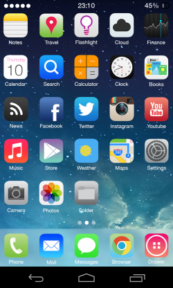 Tema iOS 7 - iPhone 5 su Android