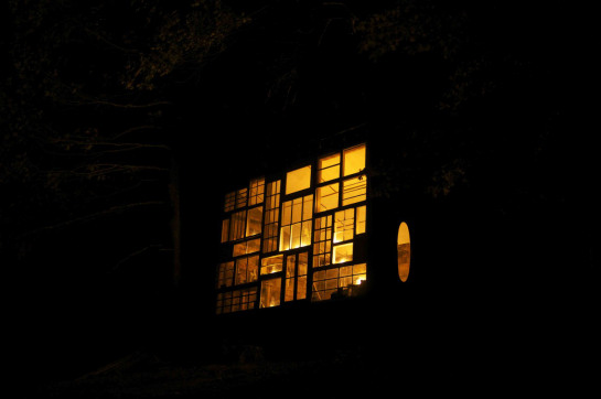 sunset house glow in the dark