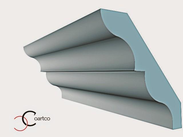 cornisa moderna. cornisa polistiren pentru interior, imbinare tavan perete