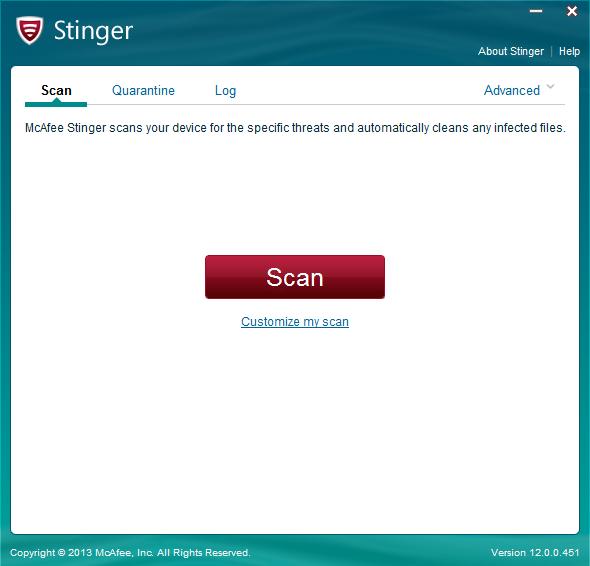 تحميل برنامج مكافى ستينغر لتعزيز الحماية الشاملة من الفيروسات على جهازك مجانى McAfee 12.0.0.569
