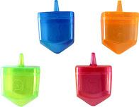 Dreidel plástico transparente (para rellenar) 8 ctms.