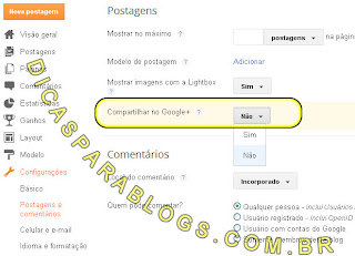 compartilhar automaticamente blog no google+