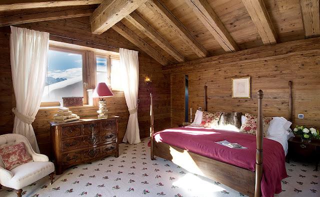 casa de montaña de madera