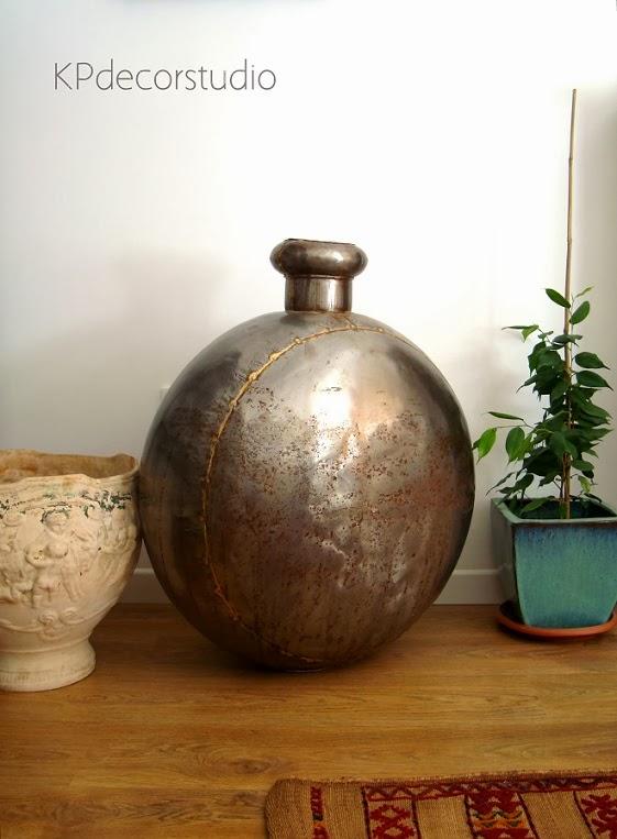 Comprar jarrón metálico estilo industrial