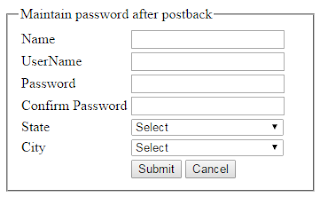 Retain password in Asp.Net textbox even after postack