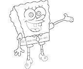 #12 Spongebob Coloring Page