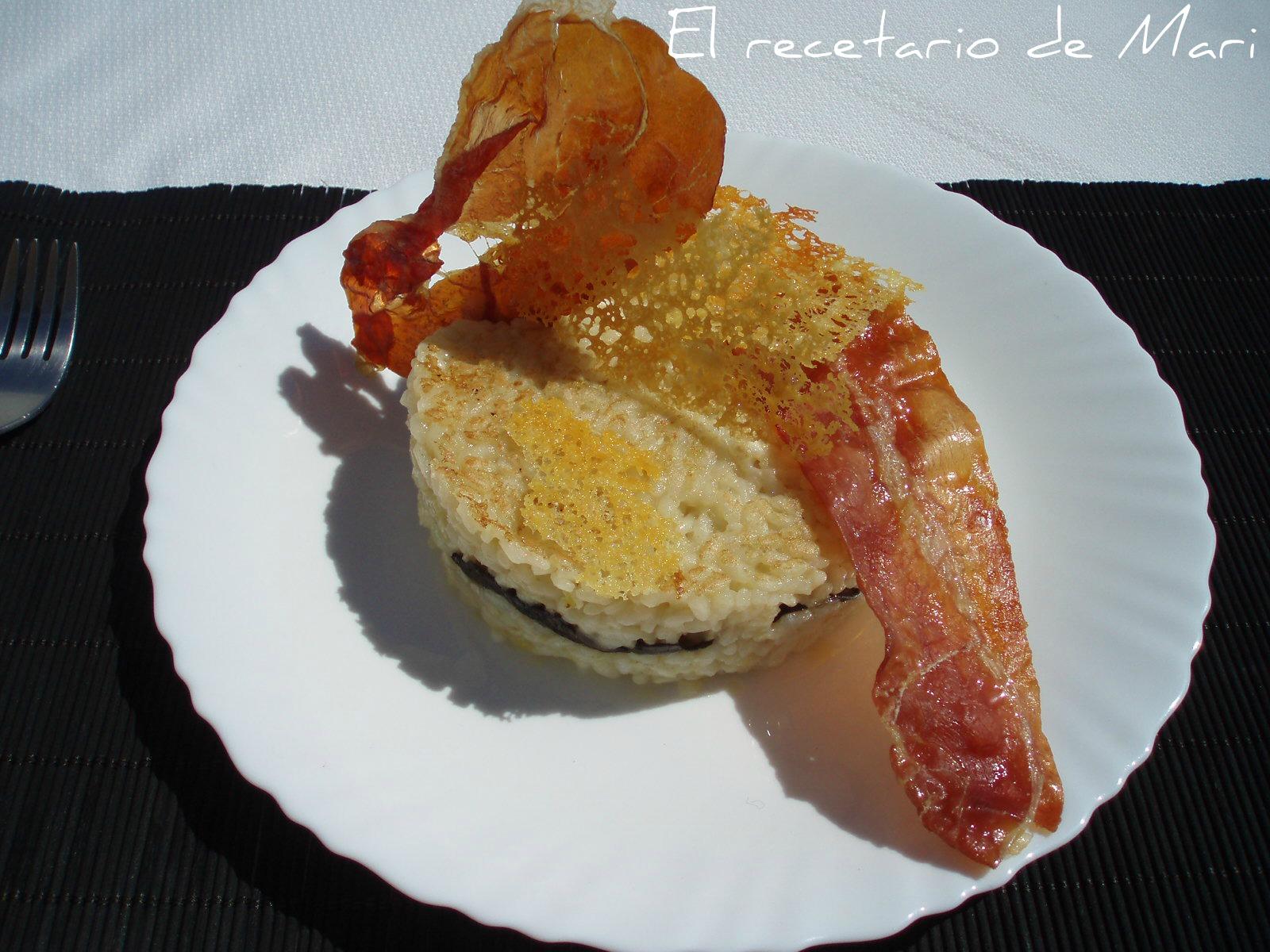 El recetario de mari risotto de setas con crujientes - Risoto con setas ...