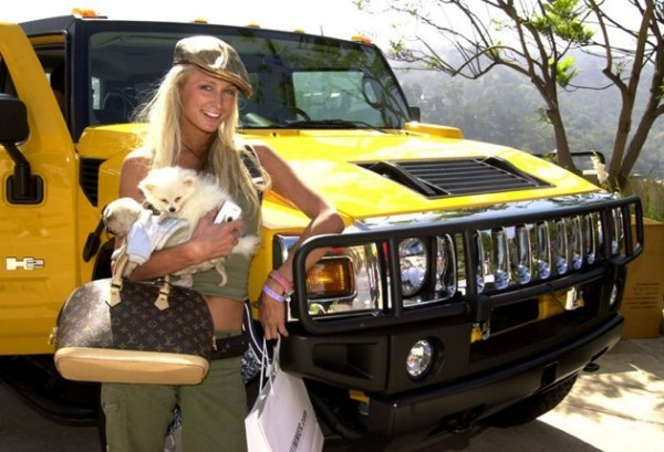 Celebrities on yellow vehicles thinking yellow for Christina hummer