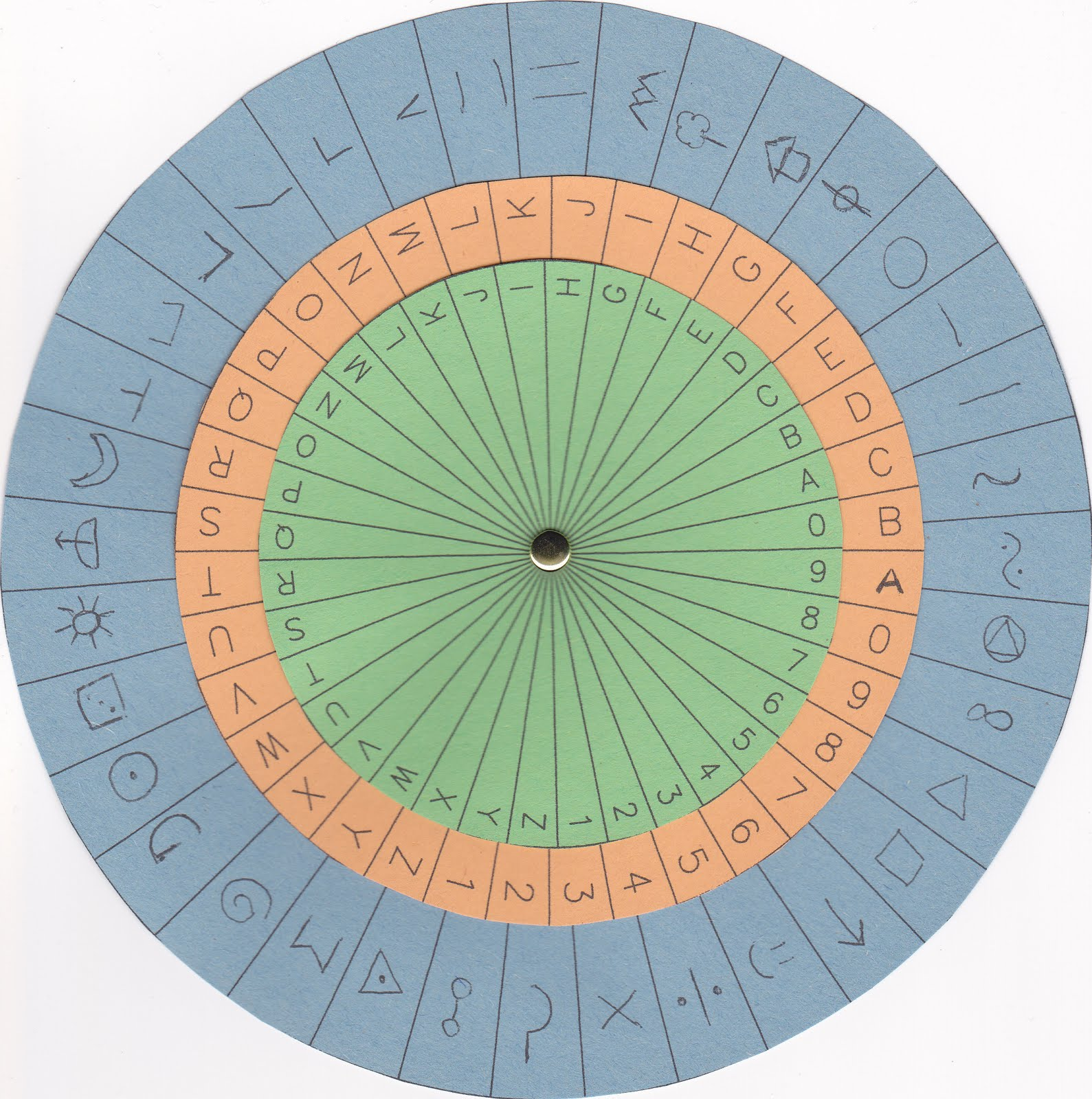 It is a photo of Current Printable Cipher Wheel