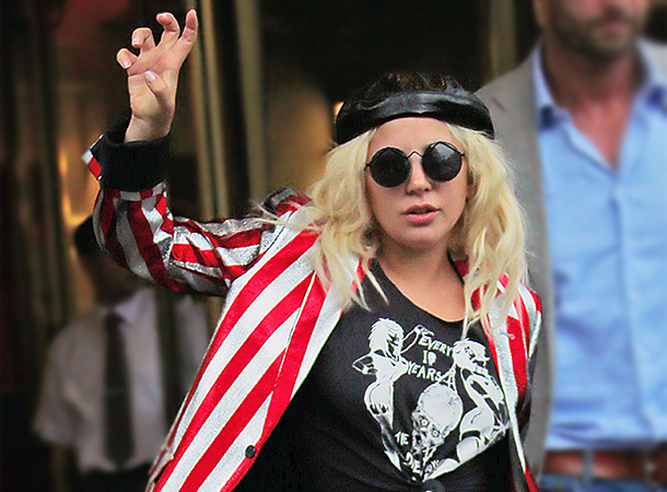 Lady Gaga Leaves Her Apartment in New York City