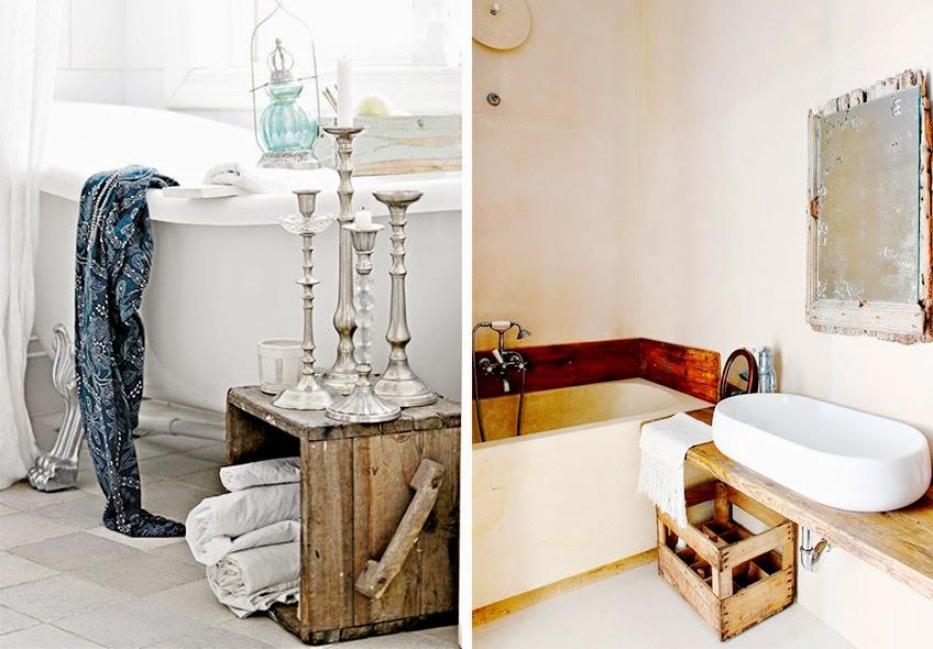 Cajas de madera para baño