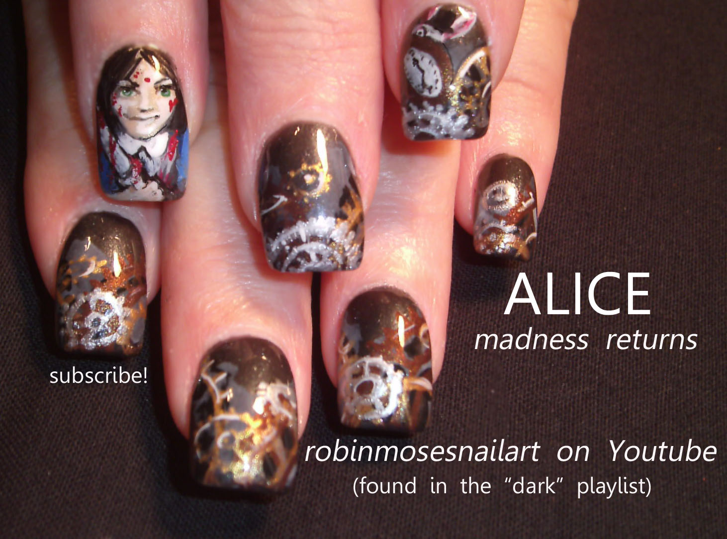 Nail Art Design: ALICE MADNESS RETURNS, alice madness returns nail ...