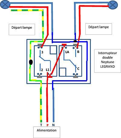schema electrique branchement interrupteur double bv. Black Bedroom Furniture Sets. Home Design Ideas