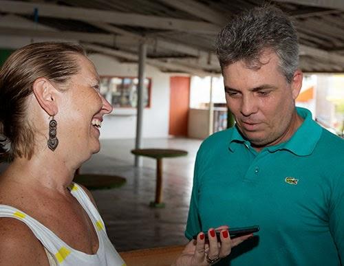 Luiz Henrique responsável pela administração do restaurante