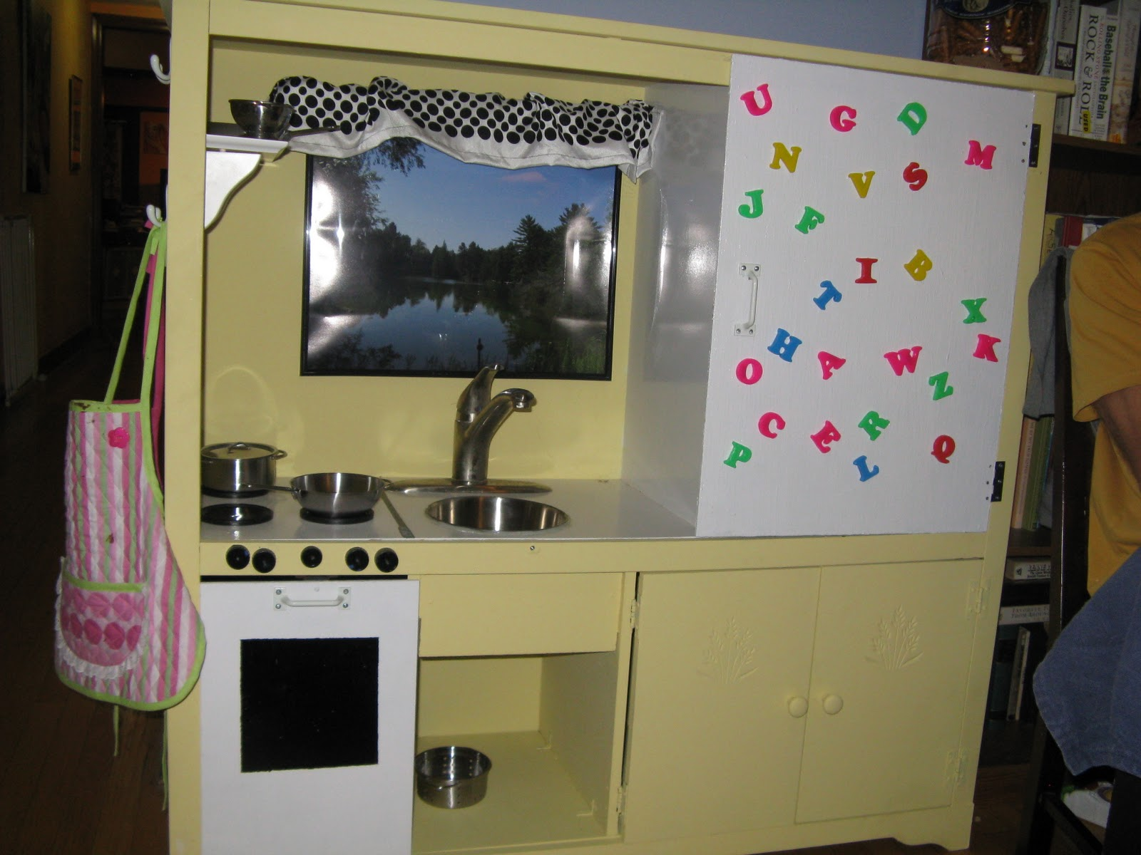 TV Entertainment Center Kids Kitchen Made From