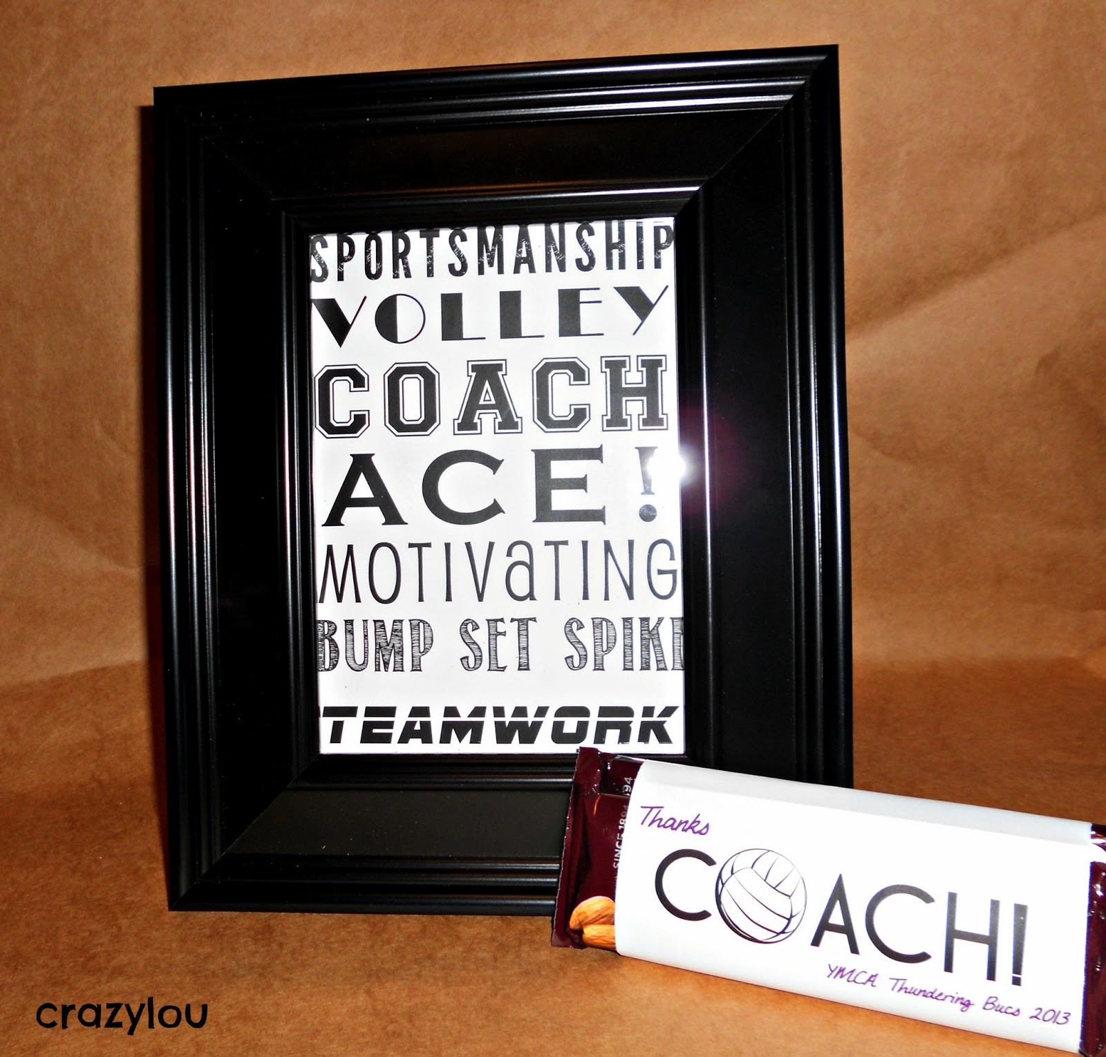 Crazylou super simple coach gifts volleyball coach gift idea jeuxipadfo Gallery