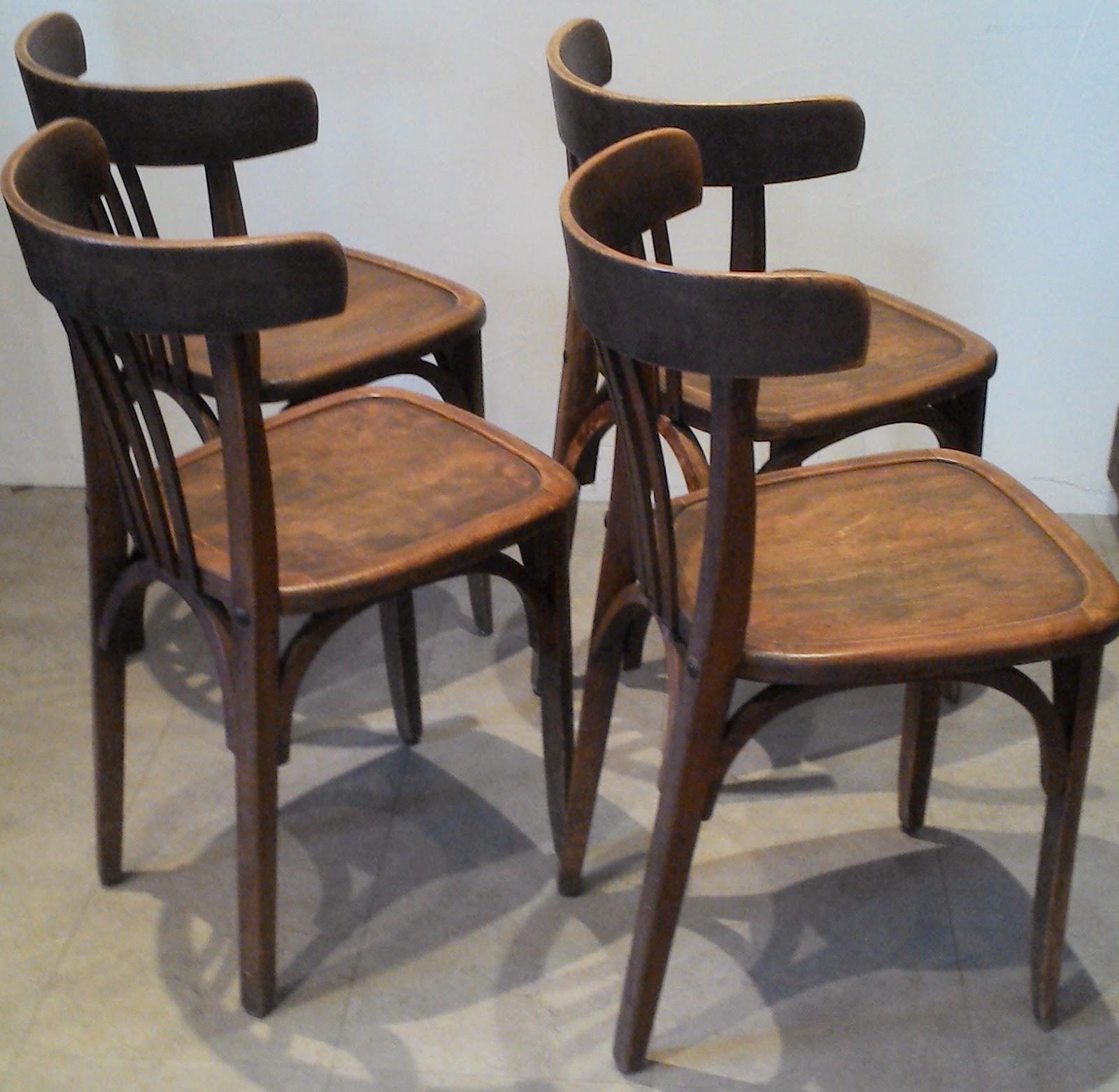 4 anciennes chaises bistrot bar style thonnet ou baumann loft atelier. Black Bedroom Furniture Sets. Home Design Ideas