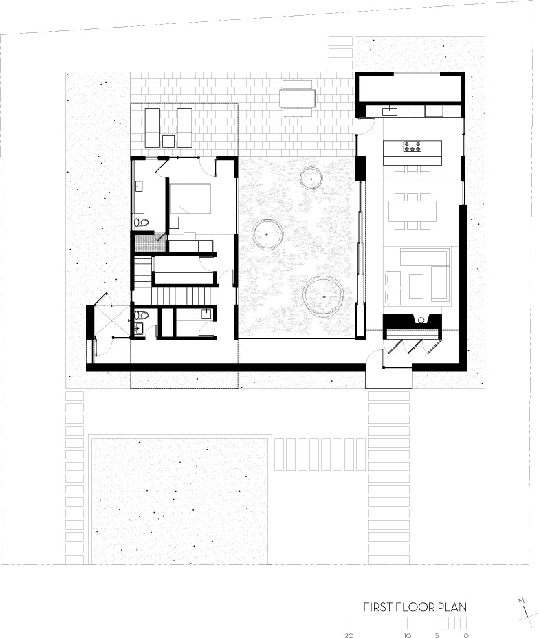 First Floor Plan  Drawing © Courtesy Of Robert M. Gurney, FAIA