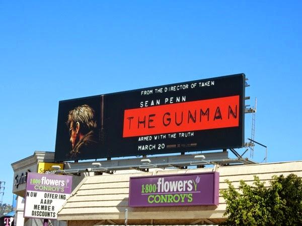 The Gunman movie billboard