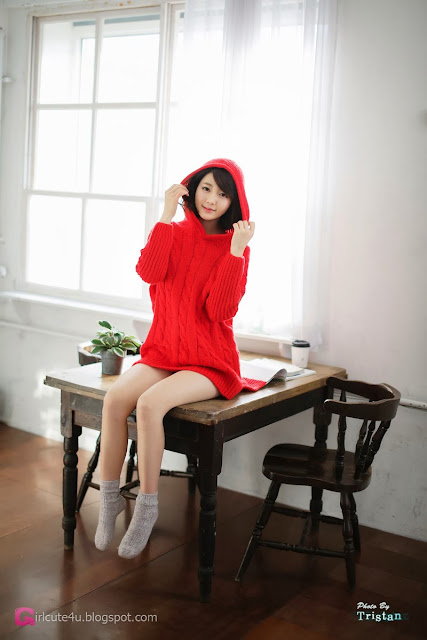 4 Bo Mi in red - very cute asian girl-girlcute4u.blogspot.com