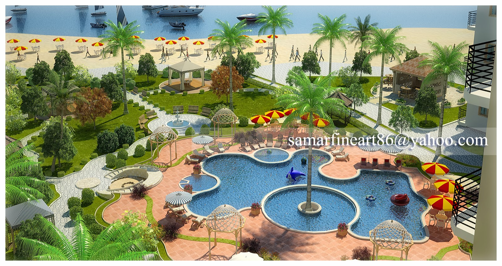 What is landscape design landscape ideas for Hotel landscape design