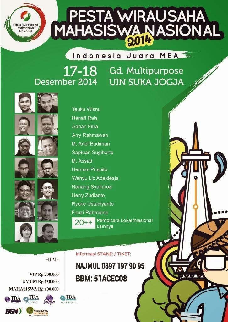 Tiket Pesta Wirausaha Mahasiswa Nasional Jogja 2014