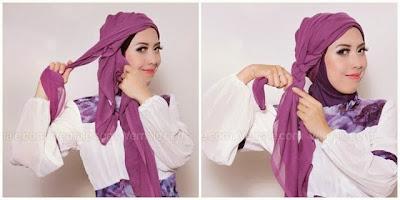 Cara Menggunakan Hijab Turban Kepang Sederhana, Cantik dan Gampang