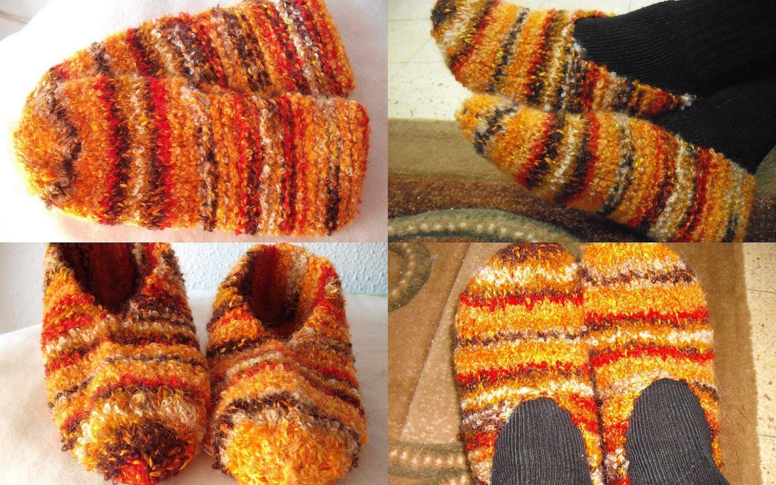 Вязание носков и тапочек спицами фото