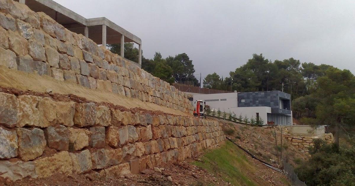 Quality garden 39 s muros de contenci n con piedra natural for Gaviones de piedra
