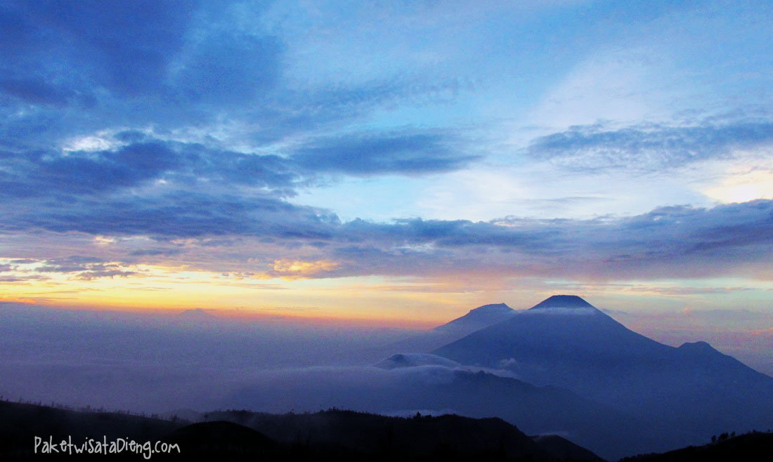 Jelajahi keindahan gunung prau dieng