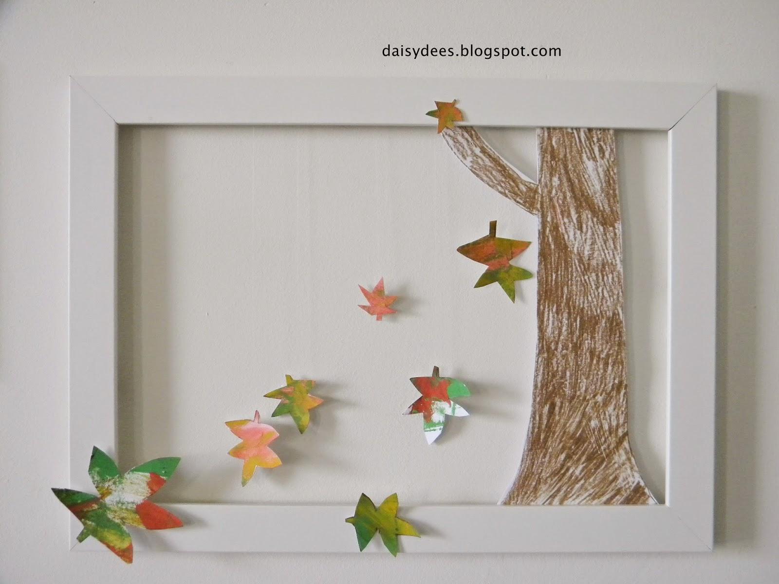 Daisyd es bricolage d 39 automne cadre facile r aliser - Bricolage facile a realiser ...