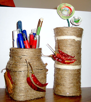 DIY: Twine Wraped Bottle, Vase, Jar , flowerpot